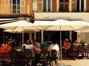 Café Clemenceau in Antibes. Picture: Frauke Schlieckau