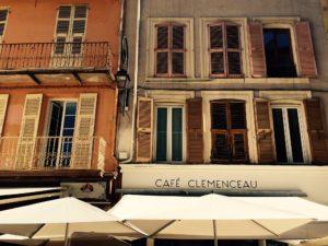Café Clemenceau in Antibes. Credit: Frauke Schlieckau